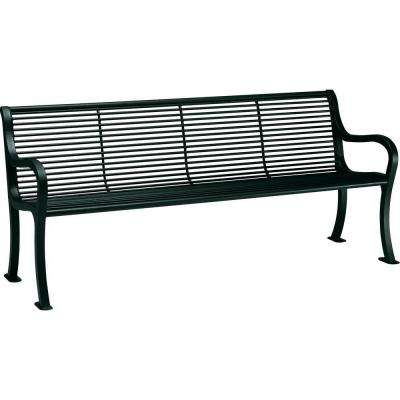 Oasis 6 ft. Hunter Patio Bench with Back