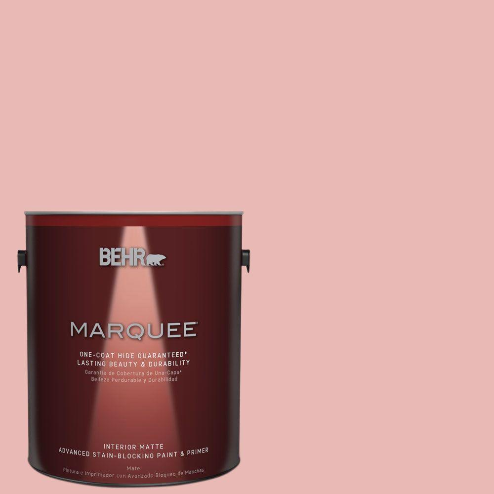 1 gal. #MQ4-4 Noble Blush One-Coat Hide Matte Interior Paint
