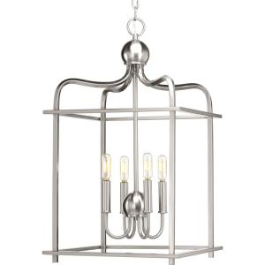 Assesmbly Hall Collection 4 -Light Brushed Nickel Pendant