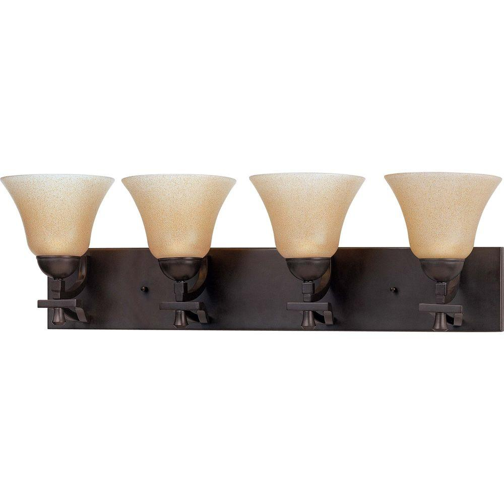 Glomar Dakota - 4 Light Vanity with Toasted Honey Glass Mountain Lodge-DISCONTINUED