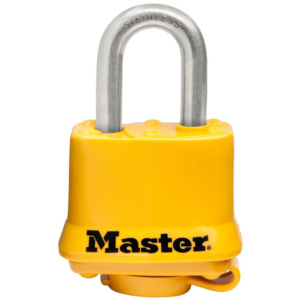 1-9/16 in. Covered Laminated Stainless Steel Keyed Padlock
