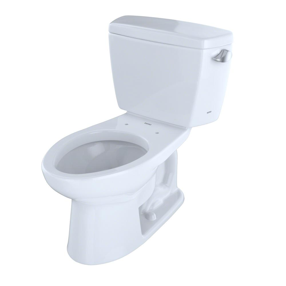 TOTO Eco Drake 2 Piece 128 GPF Single Flush Elongated Toilet With Right Hand Trip