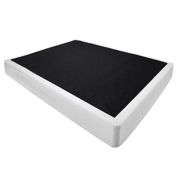 """Instant Foundation Quick Assembly Wood Foundation with Cover King-Size 8"""" Regular Profile Mattress Foundation : Replacement Box Spring"""