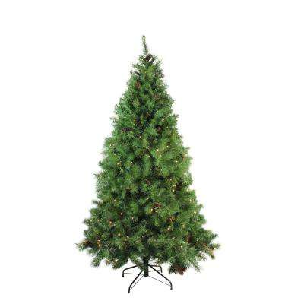 6.5 ft. x 50 in. Pre-Lit Dakota Red Pine Full Artificial Christmas Tree Clear Lights