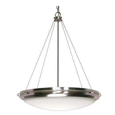 3-Light Brushed Nickel Pendant with Satin Frosted Glass Shades
