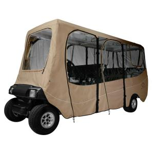 Click here to buy Classic Accessories Deluxe Golf Car Enclosure Light Khaki X-Long Roof by Classic Accessories.