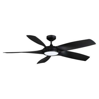 Blade Runner 54 in. LED Black Ceiling Fan with DC Motor