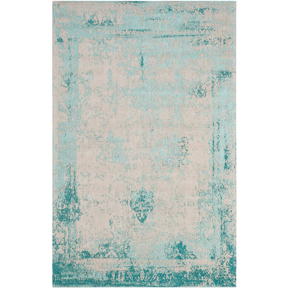 Nuloom Crandall Turquoise 7 Ft 10 In X 9 Ft 6 In Area: NuLOOM Vintage Inspired Overdyed Turquoise 8 Ft. 2 In. X 9