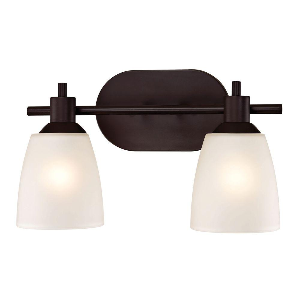 Titan Lighting Jackson 2 Light Oil Rubbed Bronze Bath Bar Light TN 60024    The Home Depot