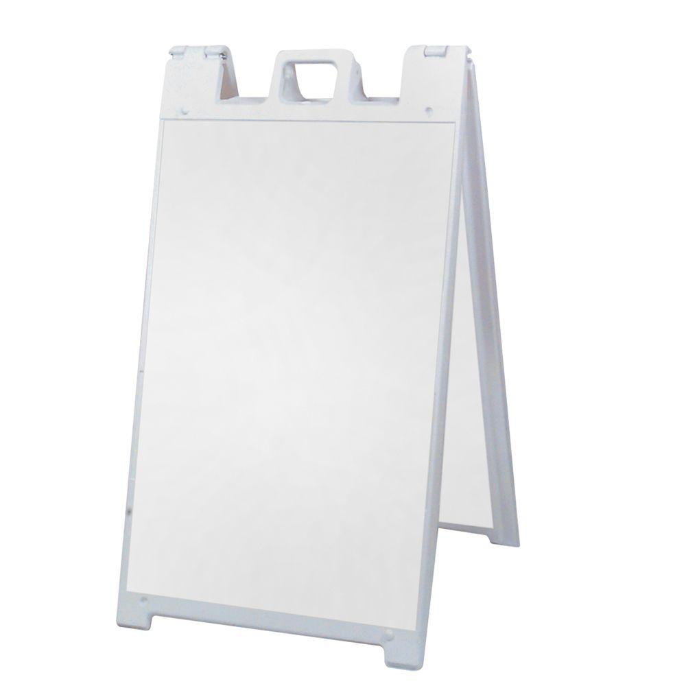 Signicade 25 in. x 45 in. Plastic Easel Shaped Sign Stand-A-PS32 ...