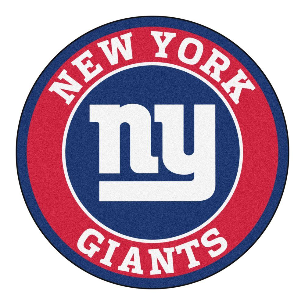 Nfl Area Rugs: FANMATS NFL New York Giants Red 2 Ft. X 2 Ft. Round Area