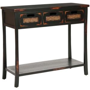 Captivating +2. Safavieh April Distressed Java Storage Console Table
