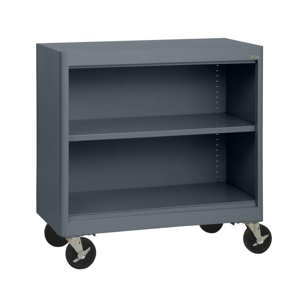 Sandusky Radius Edge Charcoal Mobile Steel Bookcase