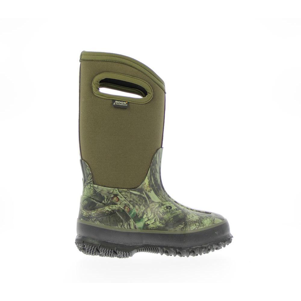 Bogs Classic Camo Kids Handles 10 inch Size 12 Mossy Oak Rubber with Neoprene Waterproof Boot by BOGS
