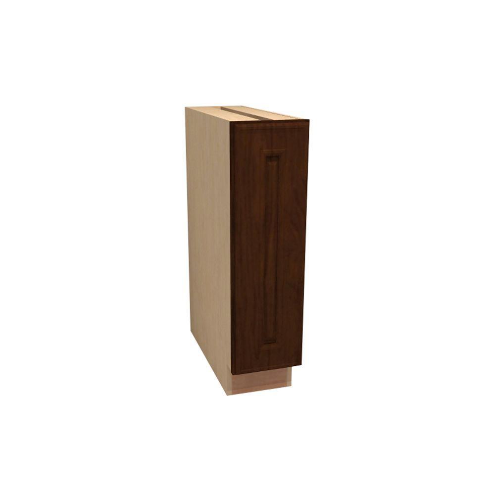 Home Decorators Collection Roxbury Assembled 12x34.5x21 in. Single Door Hinge Left Base Vanity Cabinet in Manganite