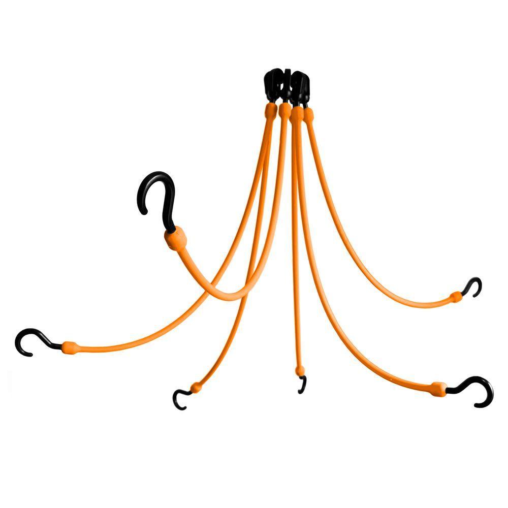 24 in. Polyurethane Flex Web with Six Arms in Orange