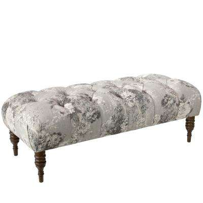 Ballad Bouquet Platinum Tufted Bench