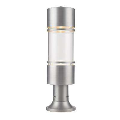 Outdoor Lighting Accessories No additional features integrated led outdoor lighting kadhi 1 light brushed aluminum led outdoor post mount with clear glass workwithnaturefo
