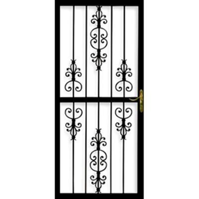 Heritage 36 in. x 84 in. Black Steel Left-Hinged Security Door
