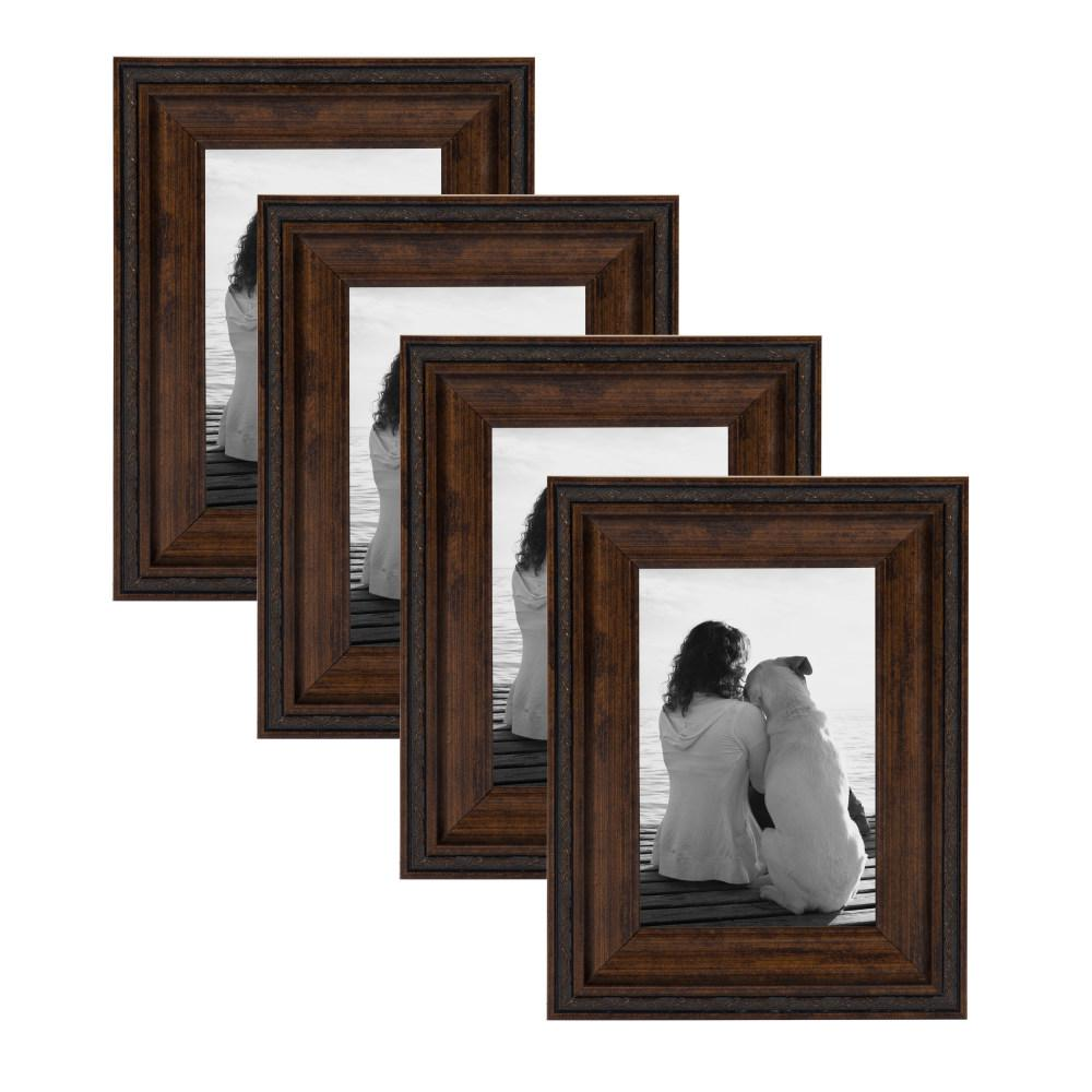 Martinez 4 in. x 6 in. Bronze Picture Frame (Set of