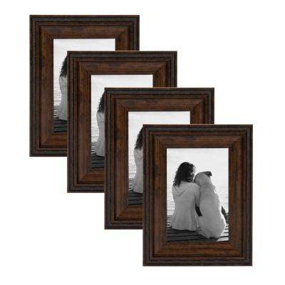 Martinez 4 in. x 6 in. Bronze Picture Frame (Set of 4)