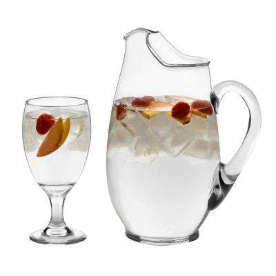 Carolina 7-Piece Clear Glass Entertainment Set