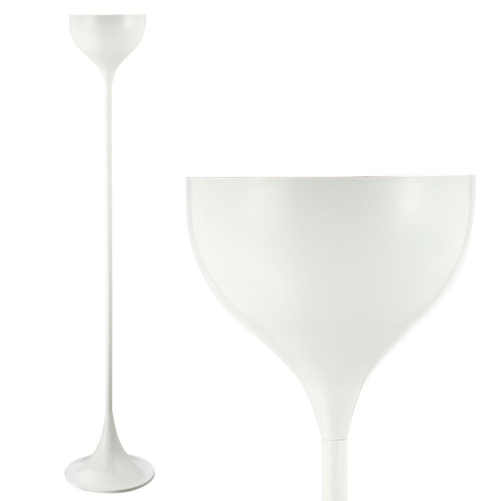 Joyce 69.5 in. White Metal LED Floor Lamp