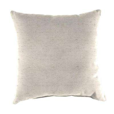 Sunbrella Frequency Parchment Square Outdoor Throw Pillow