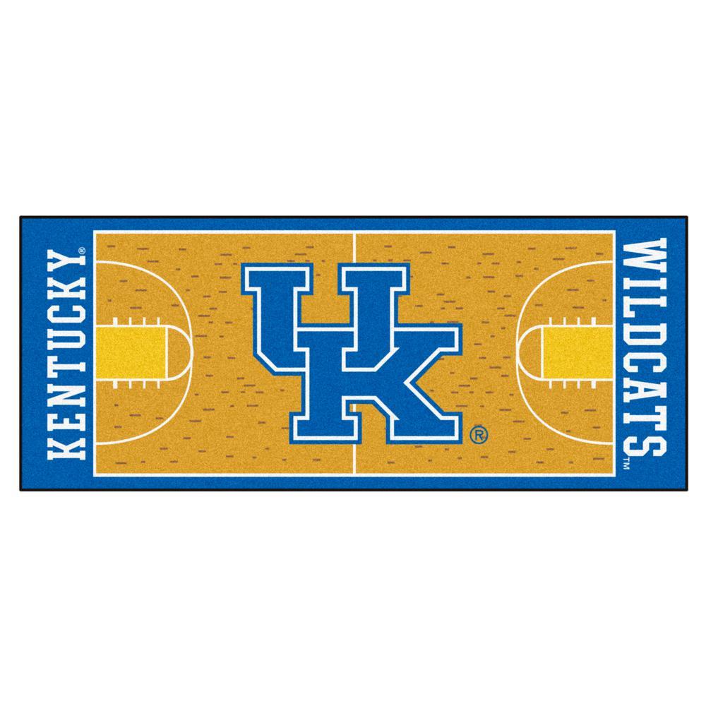 University of Kentucky 2 ft. 6 in. x 6 ft. Basketball Court Runner, Team Colors