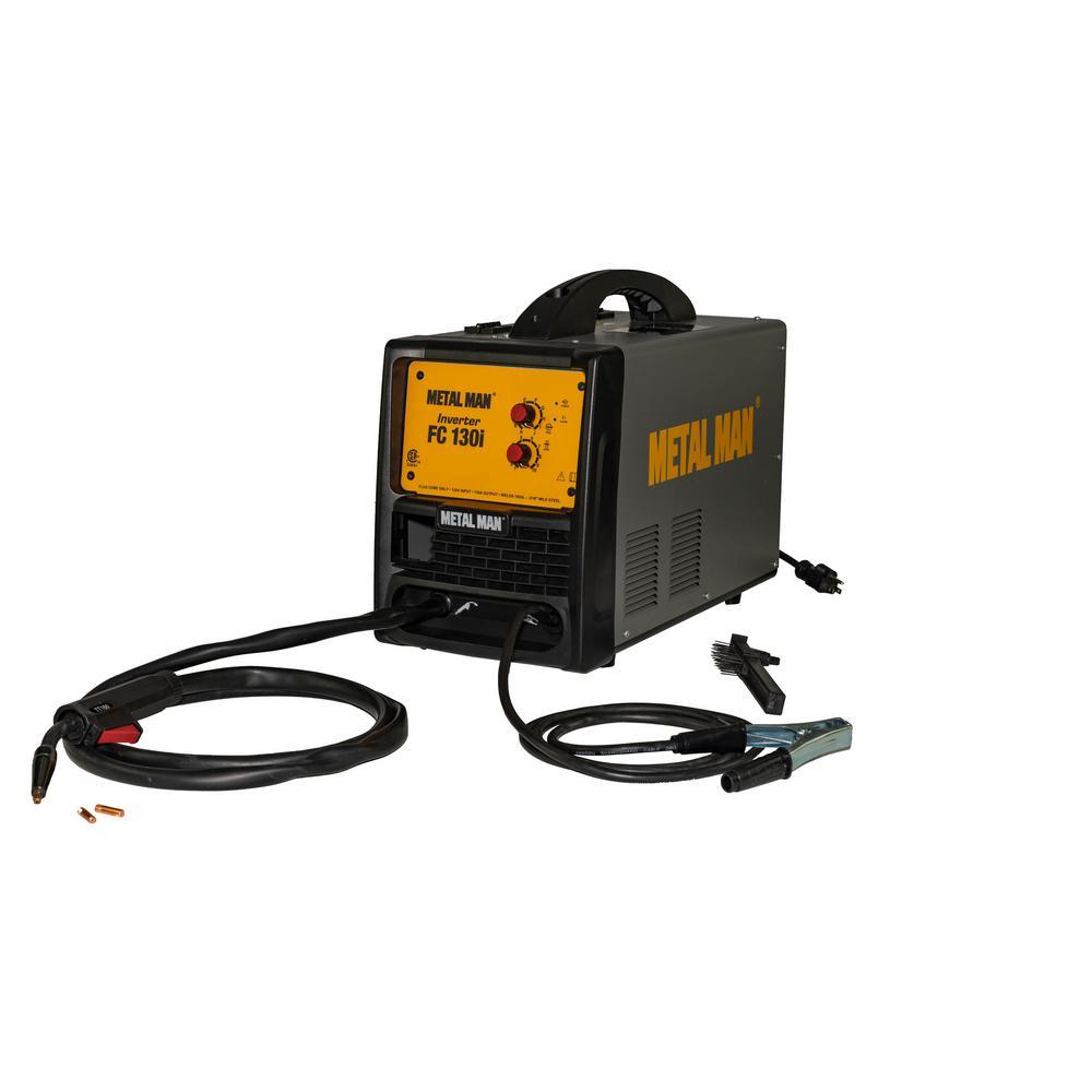 METAL MAN 130 Amp, 120 Volt. Input Power Inverter Flux Core Wire-Feed Welder