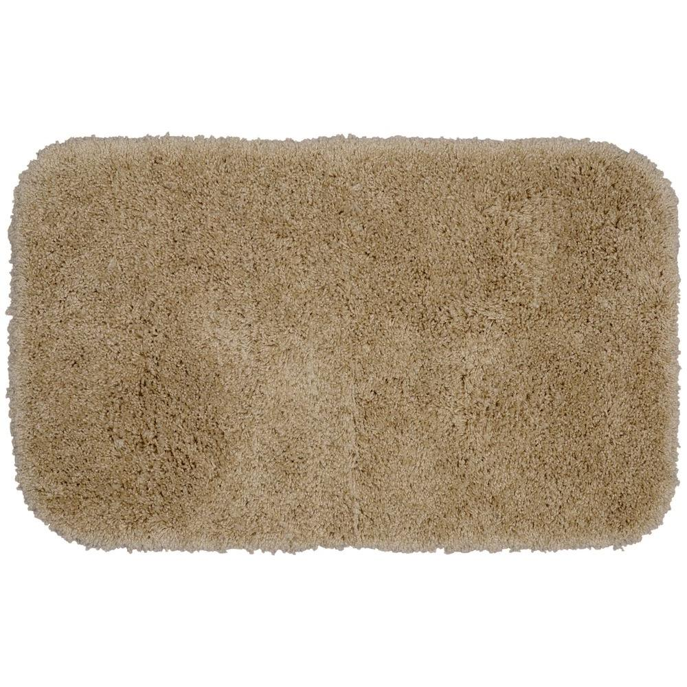 Garland Rug Serendipity Taupe 24 In. X 40 In. Washable Bathroom Accent Rug-SER-2440-18