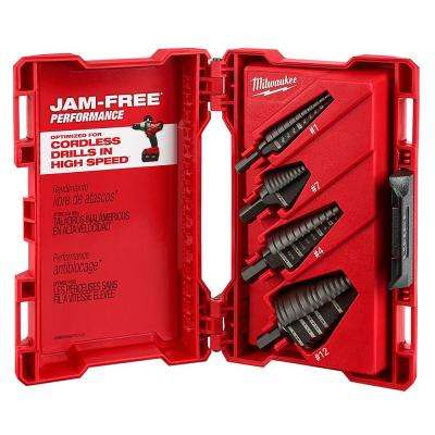 Black Oxide Step Drill Bit Set (4-Piece)