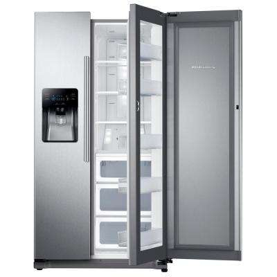 24.7 cu. ft. Side by Side Refrigerator in Stainless Steel with Food Showcase Design
