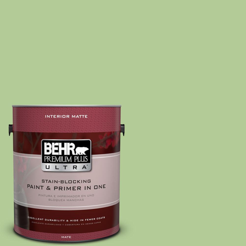 1 gal. #430D-4 Garden Spot Matte Interior Paint and Primer in