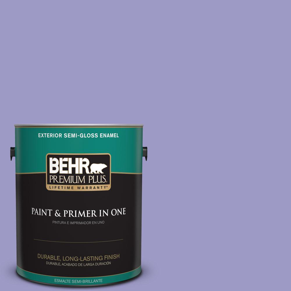 1-gal. #630B-5 Majestic Violet Semi-Gloss Enamel Exterior Paint