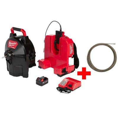 M18 FUEL 18-Volt Brushless Cordless Drain Cleaning 5/16 in. Sectional Drum System Kit W/ Free 3/8 in. x 50 ft. Cable