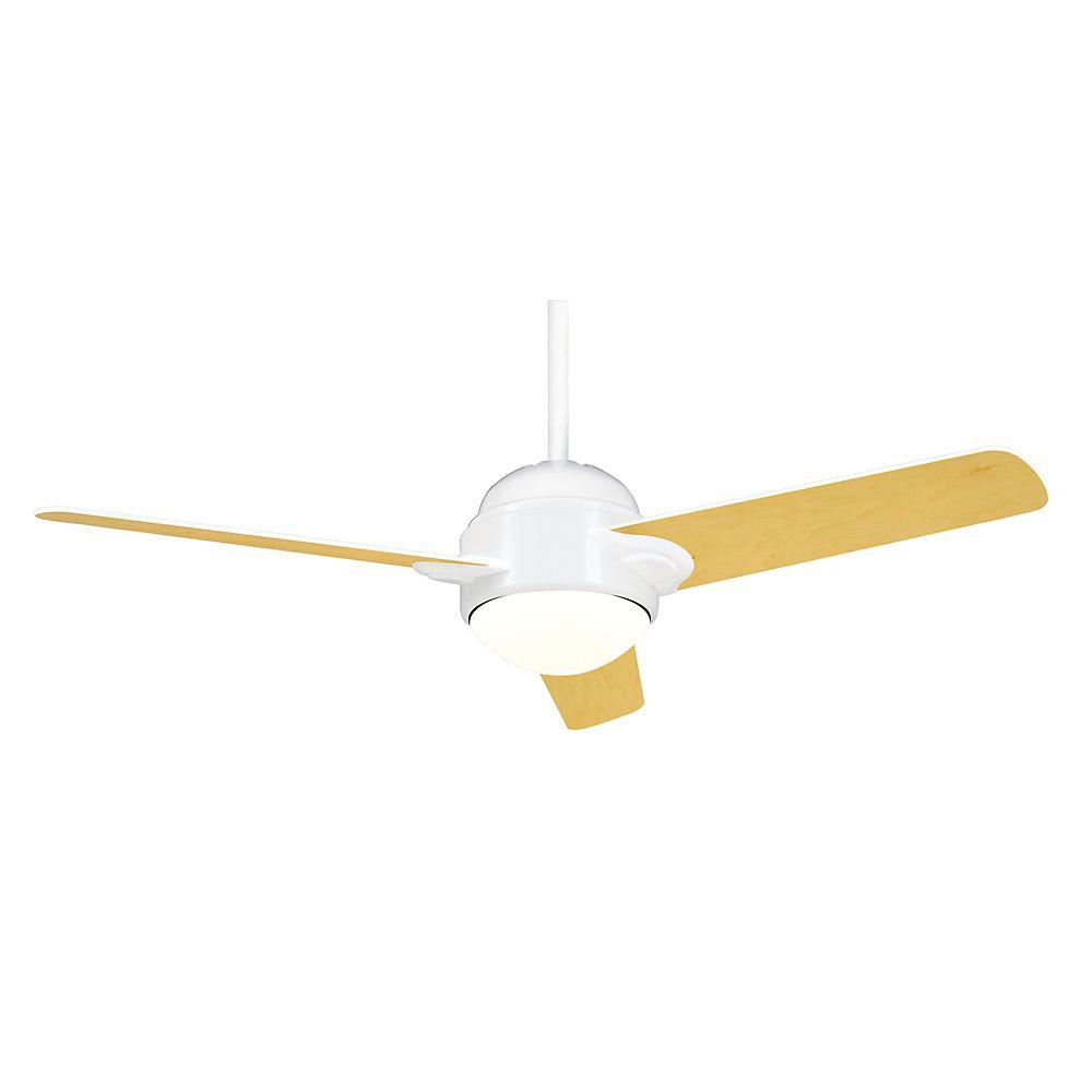 Casablanca Trident 54 in. Snow White Ceiling Fan-DISCONTINUED