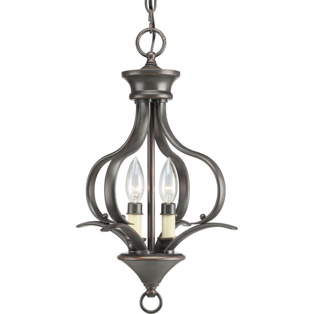 Trinity 2-Light Antique Bronze Pendant