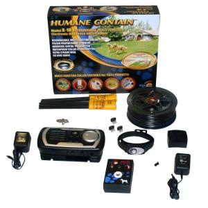 High Tech Pet Humane Contain 50 Acre Indoor/Outdoor Rechargeable Electronic Multi Fence by High Tech Pet