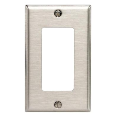 1-Gang Decora Wall Plate, Stainless Steel