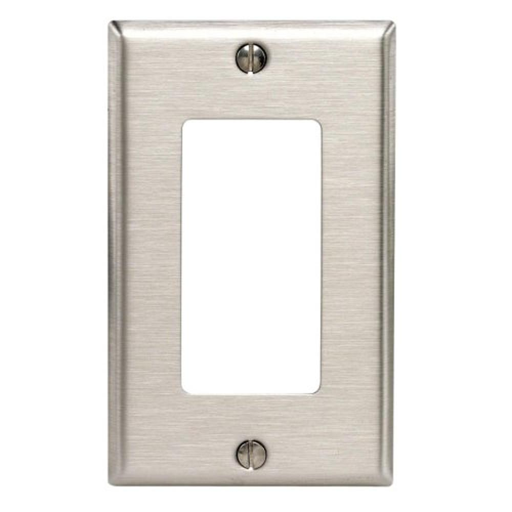 Leviton 1 Gang Decora Wall Plate Stainless Steel