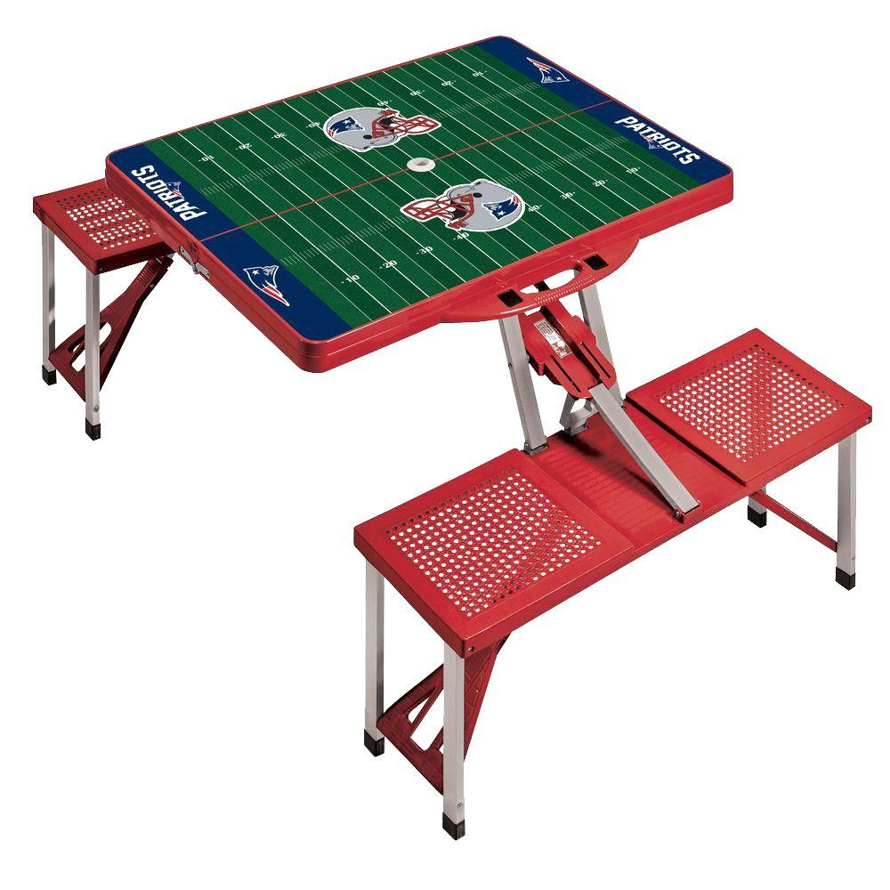 Picnic Time New England Patriots Sport Patio Picnic Table
