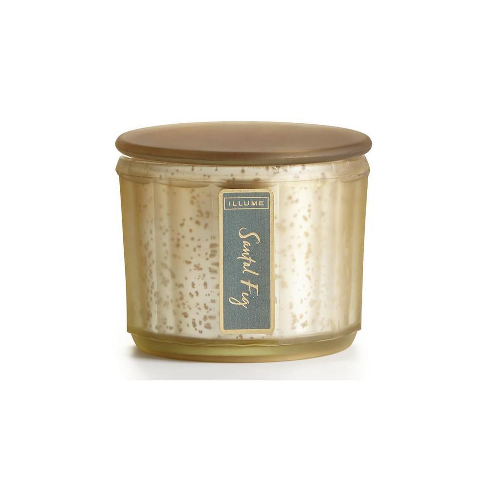 3 in. Santal Fig Lustre Jar Candle, Gold