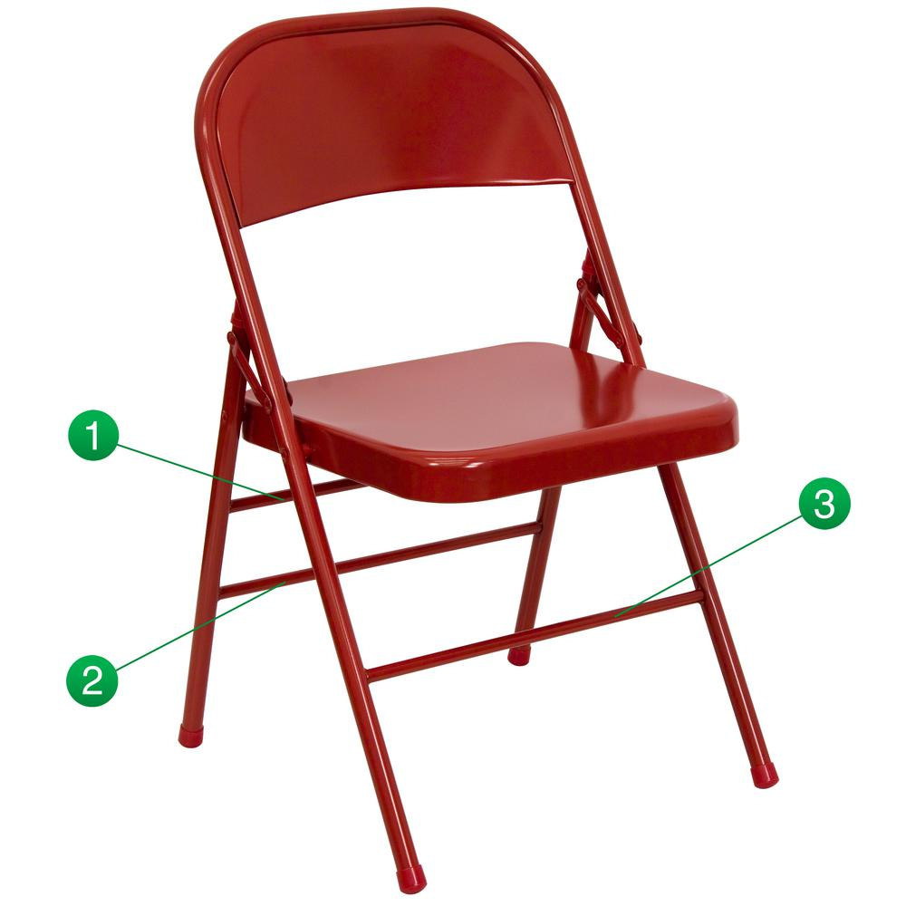 Amazing This Review Is From:Hercules Series Triple Braced U0026 Double Hinged Red Metal Folding  Chair