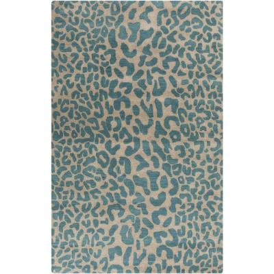 Bicauri Teal 9 ft. x 12 ft. Indoor Area Rug