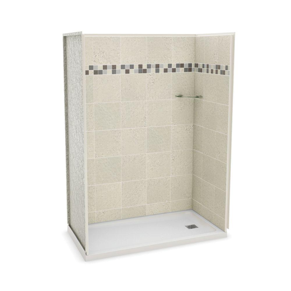 MAAX Utile Stone 32 in. x 60 in. x 83.5 in. Alcove Shower Stall in ...
