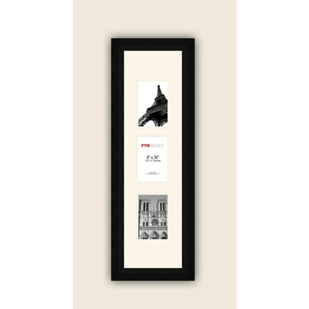 PTM Images 3-Opening Vertical 4 in. x 6 in. White Matted Black Photo ...