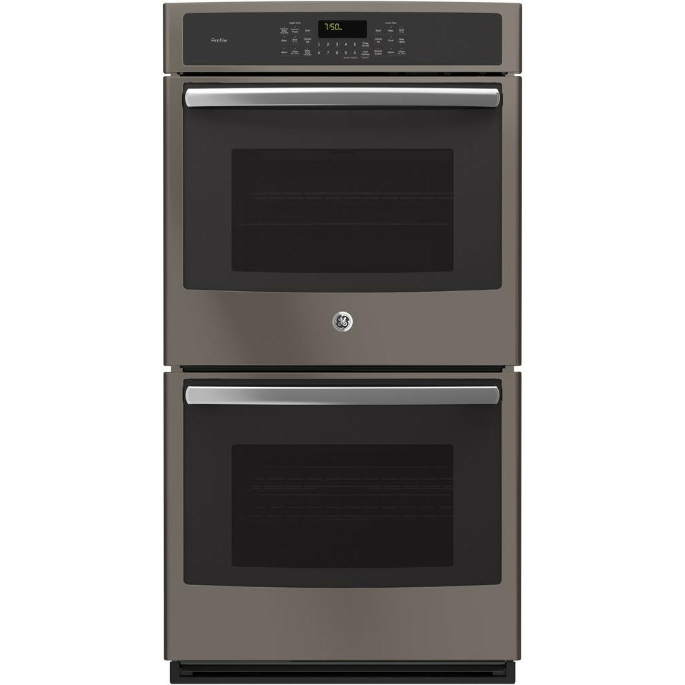 GE Profile 27 In. Double Electric Smart Wall Oven Self Cleaning With  Convection And