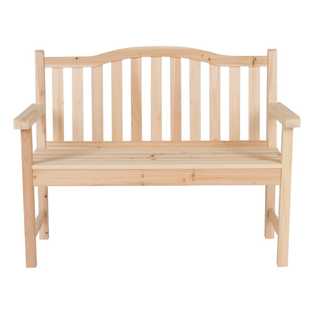 Superieur Shine Company Belfort 43.25 In. Wood Outdoor Garden Bench In Natural