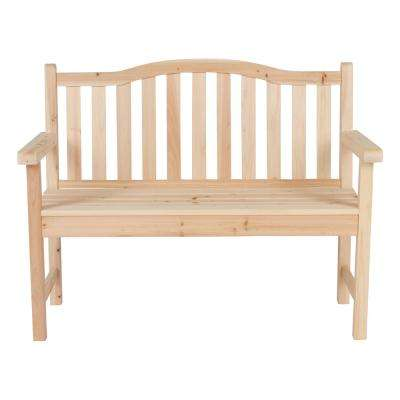 Belfort 43.25 in. Wood Outdoor Garden Bench in Natural